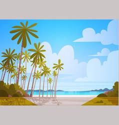 Sea shore beach beautiful seaside landscape summer vector