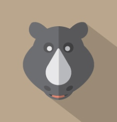 Modern flat design rhino icon vector