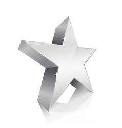 3d star silver vector image