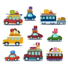 Cars to travel vector