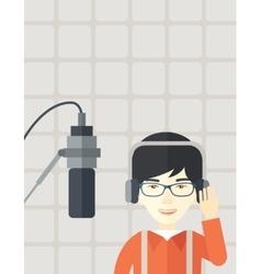 Radio DJ vector image