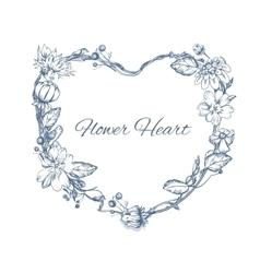 Floral element for wedding invitation cards vector image