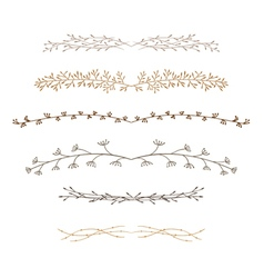 decorative doodle branches Six vector image