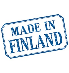 Finland - made in blue vintage isolated label vector