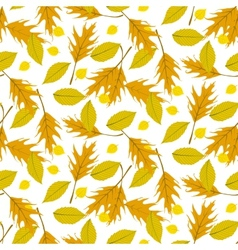 Autumn seamless background vector