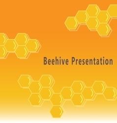 Beehive presentation background vector image vector image