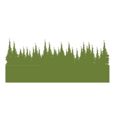 Colorful panoramic lanscape with natural pines vector