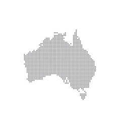 Detailed map of Australia in the dot vector image vector image