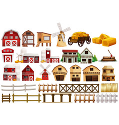 different design of barns and fences vector image vector image