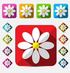 Flat Design Flowers Set vector image