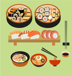 food icon sushi Japanese food Japanese dishes vector image