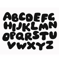 Funny black alphabet vector
