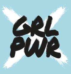 Girl power poster feminist print cool vector