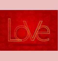 golden typography text on red background in vector image vector image