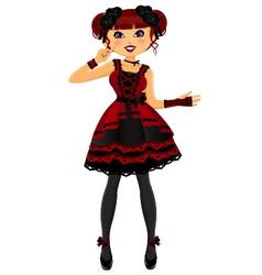 Gothic lolita vector