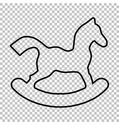 Horse toy line icon vector