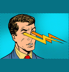 Lightning of the human eye vector