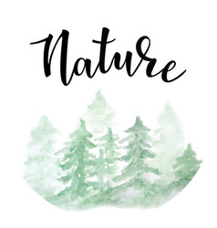 nature lettering vector image vector image