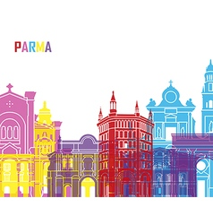 Parma skyline pop vector