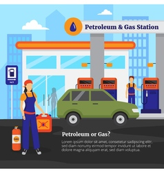 Petroleum and gas station vector