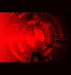 red technology background abstract digital tech vector image