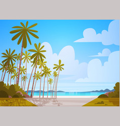 Sea shore beach beautiful seaside landscape summer vector