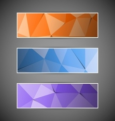 Set of colorful abstract triangular polygonal vector image vector image