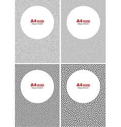 Set of halftone black dots backgrounds vector