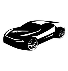 Silhouette tuning car vector image vector image