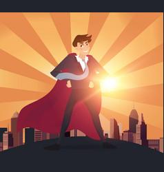superhero businessman concept vector image vector image