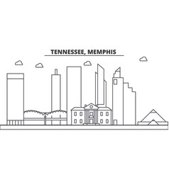 tennessee memphis architecture line skyline vector image vector image