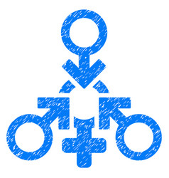triple penetration sex grunge icon vector image