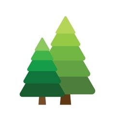 Two fir tree vector