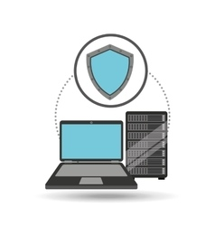 Protection laptop data server vector