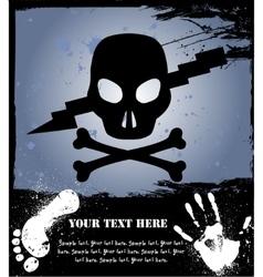 Skull on grunge background vector image