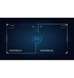 Versus screen design announcement of a two vector