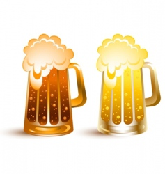 gold beer vector image