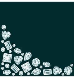 Black background with diamonds vector image
