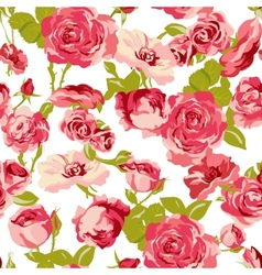 Vintage seamless roses background vector