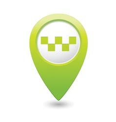 taxi icon green map pointer vector image