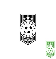 Football club emblem mockup soccer sport logo ball vector