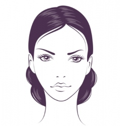 Face girl vector