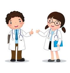 Profession costume of doctor for kids vector