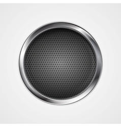 Abstract metal perforated circle background vector