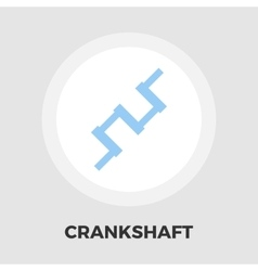 Crankshaft flat icon vector