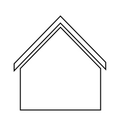 Home family house with with roof silhouette vector