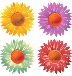 Glossy flowers vector