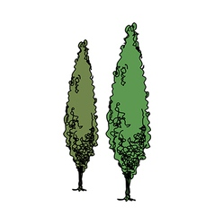 A pair of trees vector image vector image