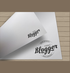 A4 template lettering vector