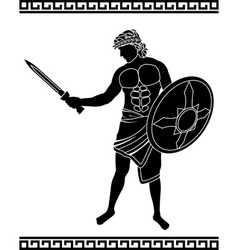 ancient swordsman vector image vector image